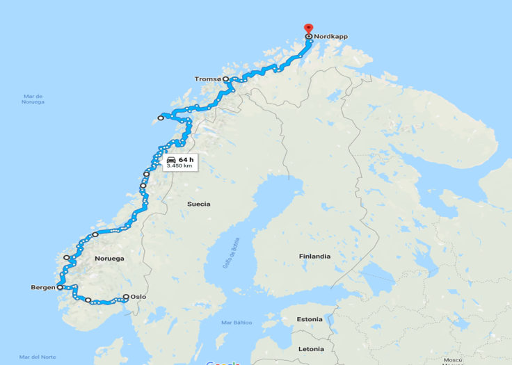 Oslo - Nordkapp